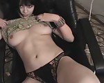 Naked Chick with Hairy Fuck Hole Left Alone In a Room Without a Man Doing Some Posing