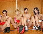 Sporty lesbians in action