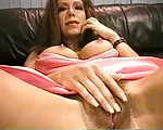 Outstanding Looking MILF is Getting Caught Pleasing Her Hairy Cunt By a Postman & Then Gets Fucked By Him