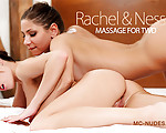 Massage For Two - Sexy Nessa and luscious Rachel